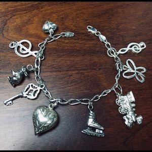 Jewelry - Sterling Silver  Beautiful charm bracelet ⭐️